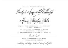 custom invitations - black - just glamorous (set of 10)