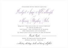 custom invitations - lilac - just glamorous (set of 10)