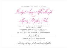 custom invitations - bright pink - just glamorous (set of 10)