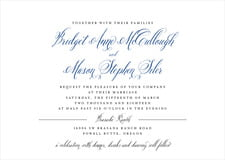 custom invitations - deep blue - just glamorous (set of 10)