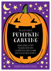 Jack-O-Lantern Card In Purple