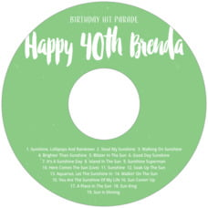 Bonjour birthday CD/DVD labels