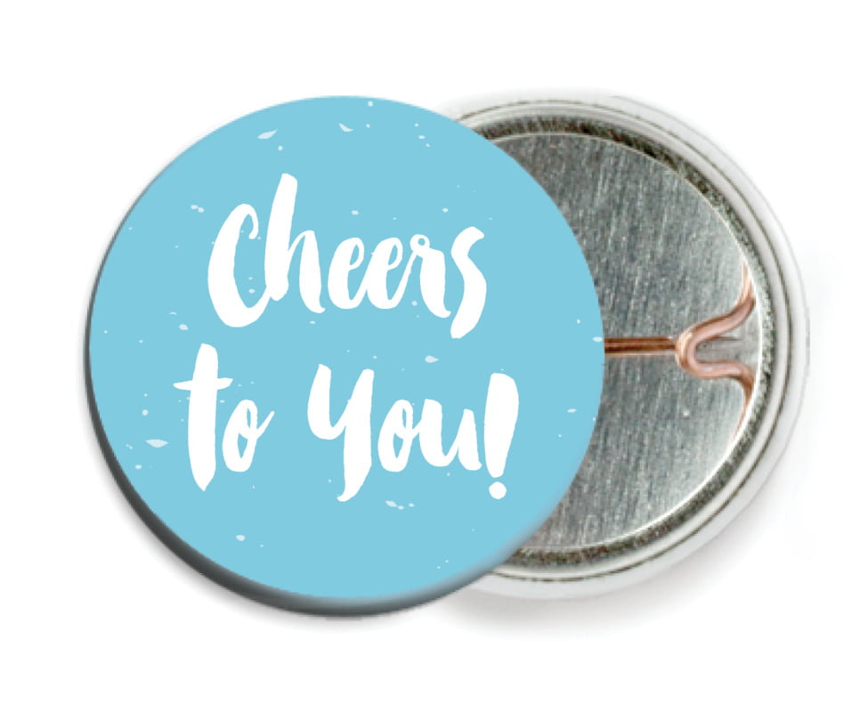 custom pin back buttons - sky - bonjour (set of 6)