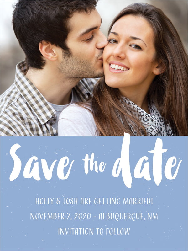 custom tall save the date cards - serenity - bonjour (set of 10)