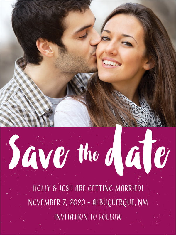 custom tall save the date cards - burgundy - bonjour (set of 10)