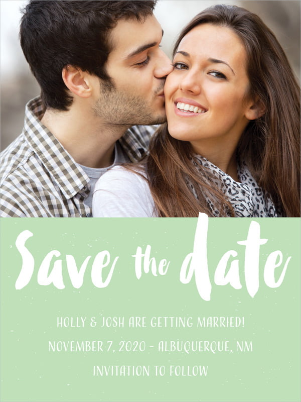 custom tall save the date cards - mint - bonjour (set of 10)
