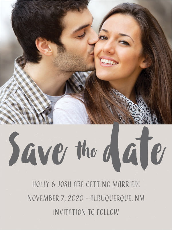 custom tall save the date cards - stone - bonjour (set of 10)