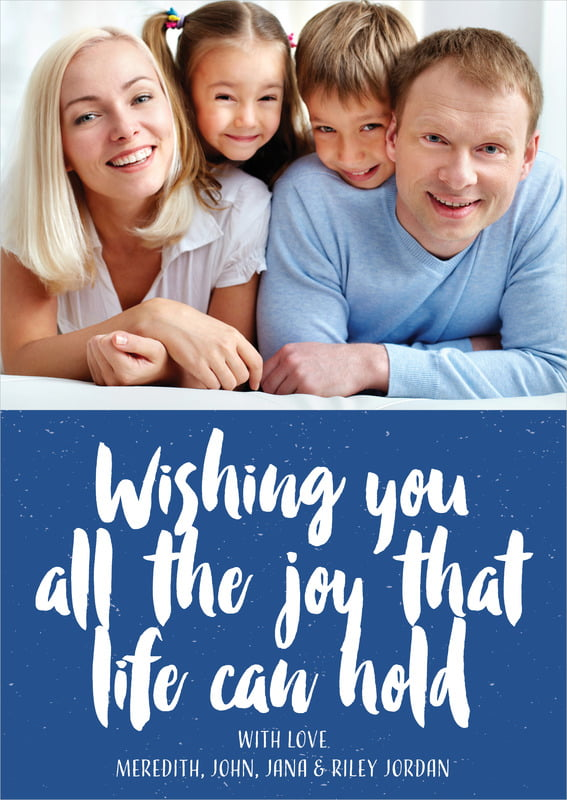 holiday cards - deep blue - bonjour (set of 10)