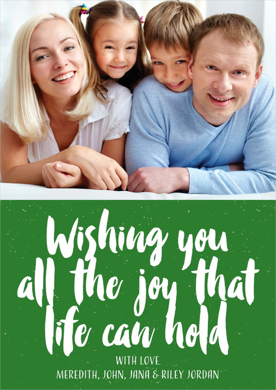 holiday cards - deep green - bonjour (set of 10)