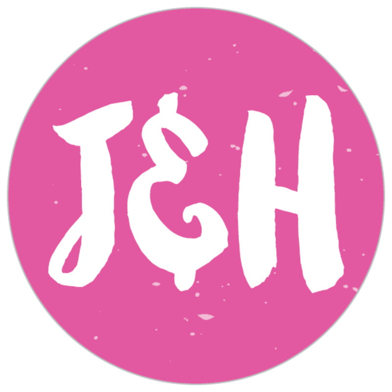 small circle food/craft labels - bright pink - bonjour (set of 70)