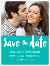 Bonjour save the date cards