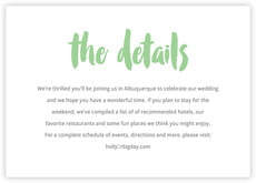 Bonjour wedding enclosure cards