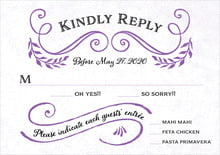 custom response cards - purple - joy of scrolls (set of 10)