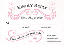 custom response cards - pink - joy of scrolls (set of 10)