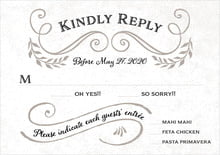 custom response cards - warm grey - joy of scrolls (set of 10)