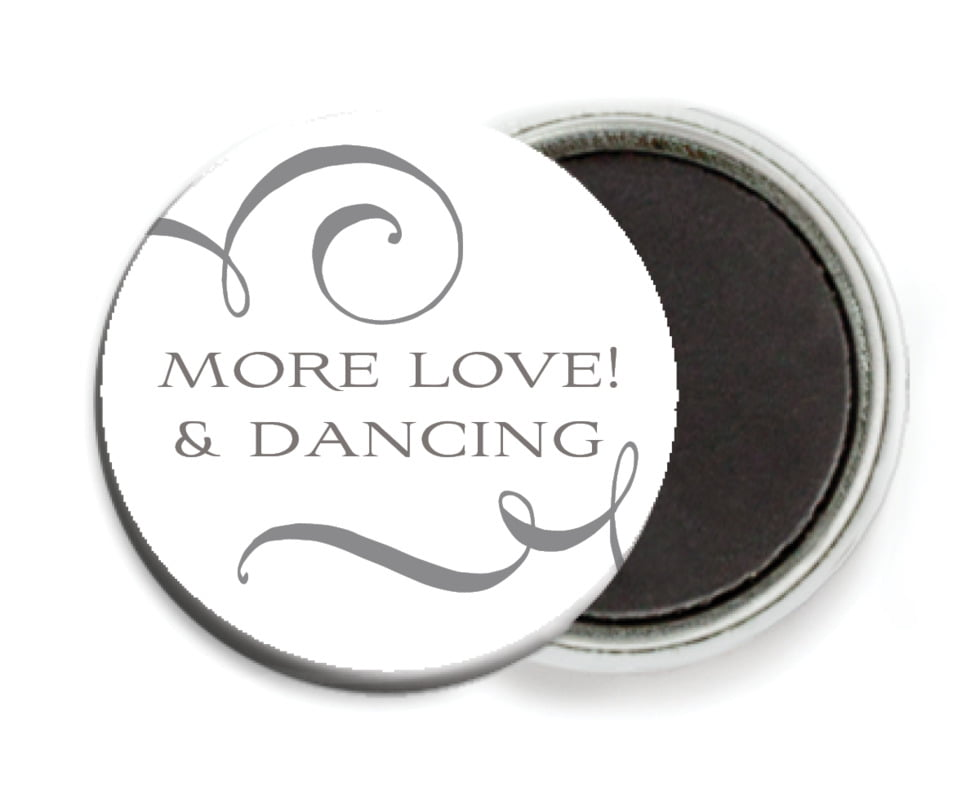 custom button magnets - charcoal - jubilation (set of 6)