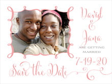 custom save-the-date cards - grapefruit - jubilation (set of 10)