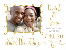 custom save-the-date cards - amber - jubilation (set of 10)