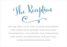 custom enclosure cards - cobalt - jubilation (set of 10)