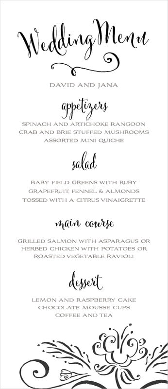 custom menus - tuxedo - jubilation (set of 10)
