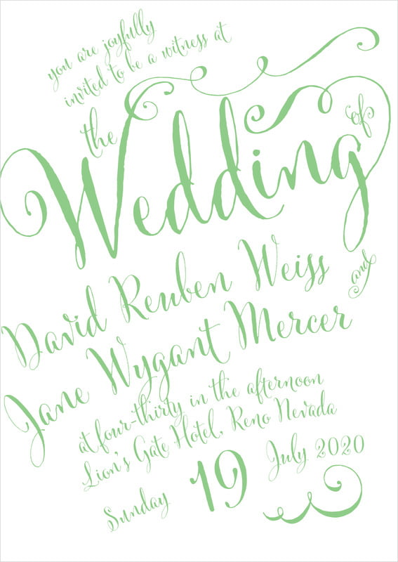 custom invitations - spring green - jubilation (set of 10)