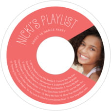 Jules Veneer wedding CD/DVD labels