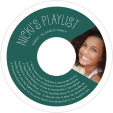 Jules Veneer Cd Label In Deep Green