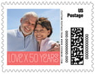 Jules Veneer wedding postage stamps