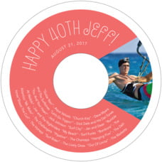 Jules Veneer birthday CD/DVD labels