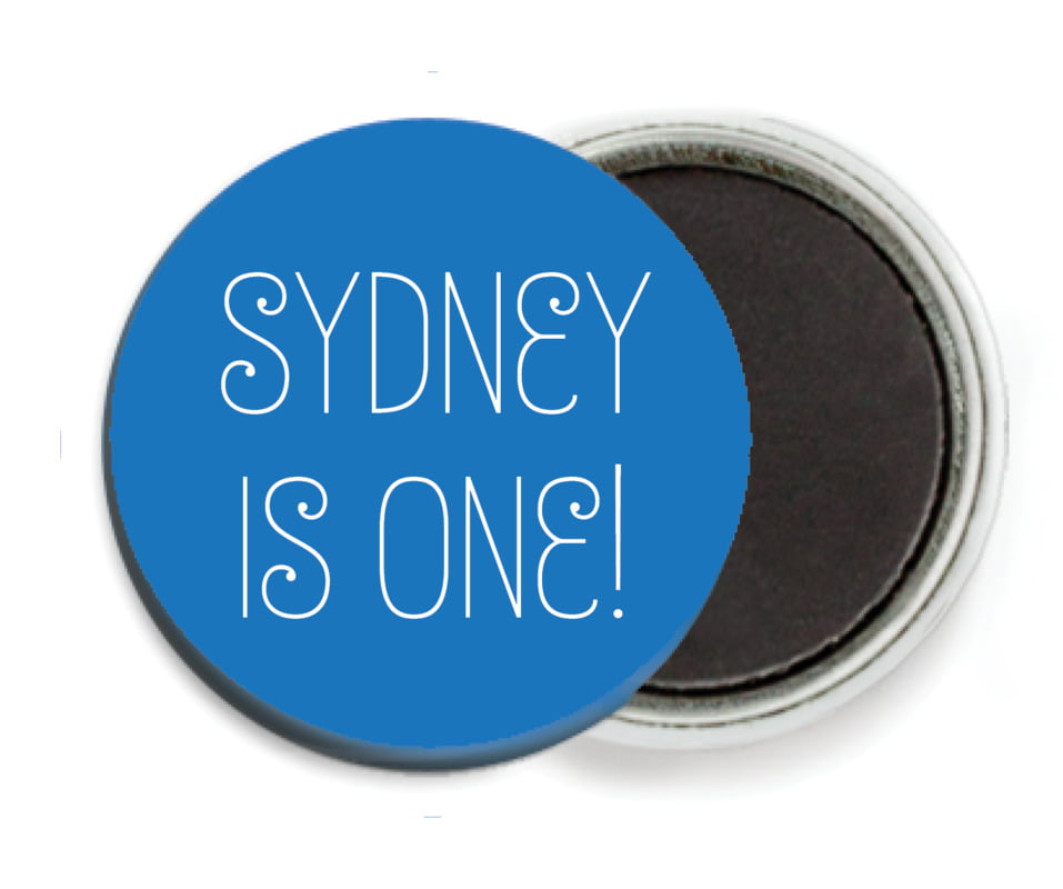 custom button magnets - cobalt - jules veneer (set of 6)