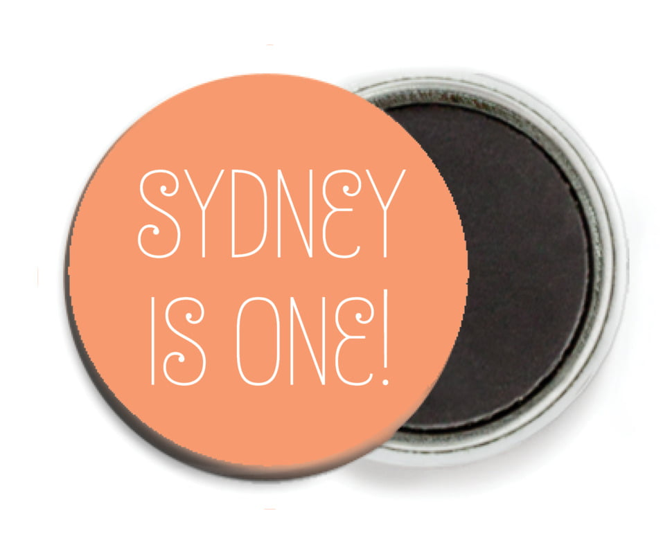custom button magnets - peach - jules veneer (set of 6)