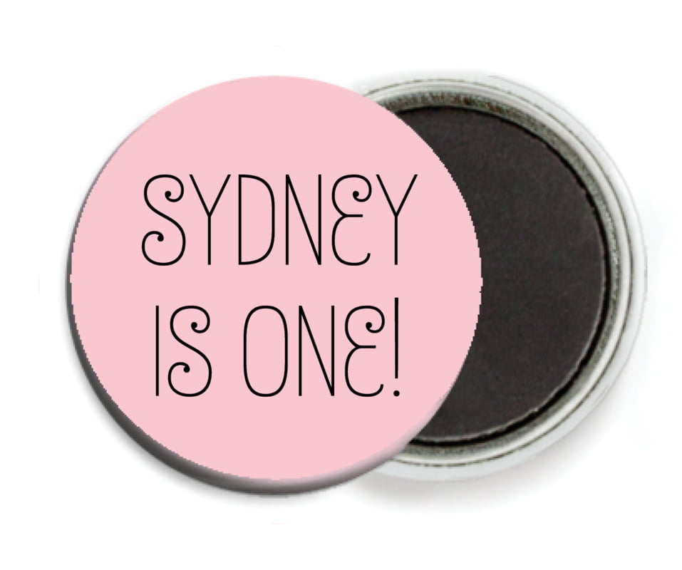 custom button magnets - pale pink - jules veneer (set of 6)