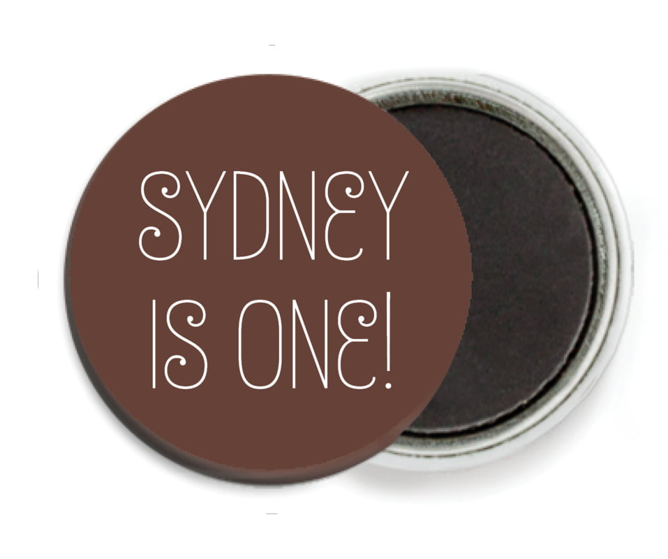 custom button magnets - chocolate - jules veneer (set of 6)