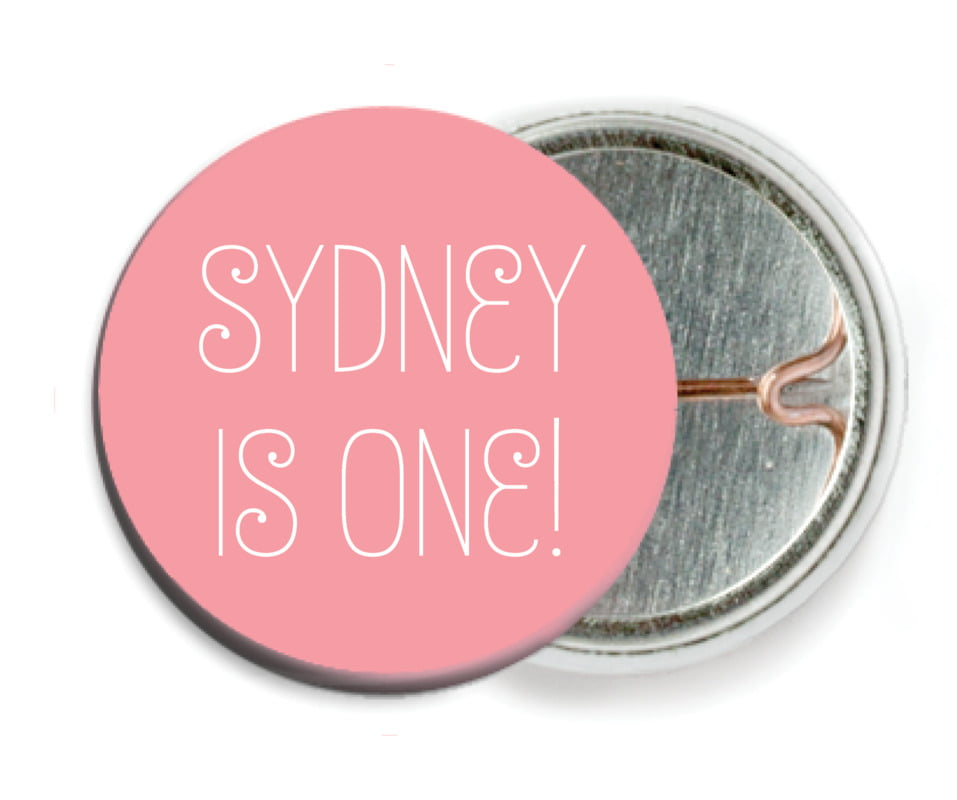 custom pin back buttons - grapefruit - jules veneer (set of 6)