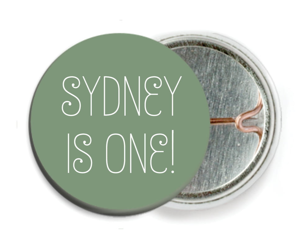 custom pin back buttons - sage - jules veneer (set of 6)