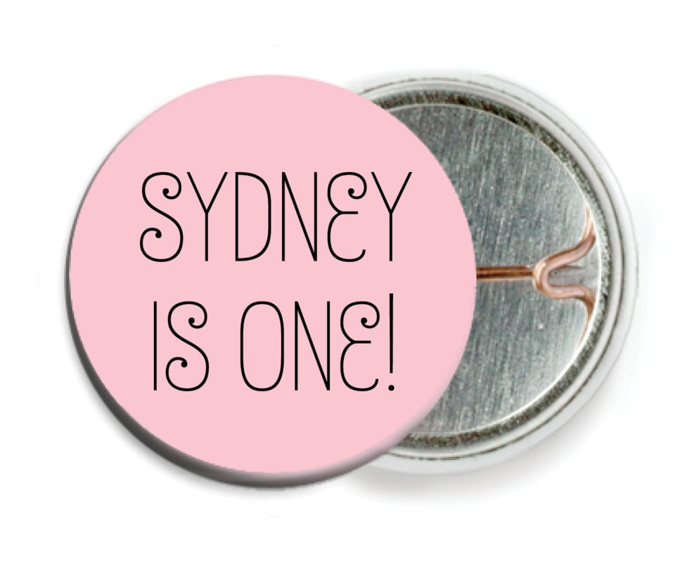 custom pin back buttons - pale pink - jules veneer (set of 6)