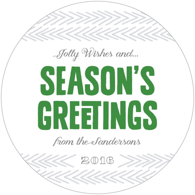 round holiday coasters - deep green - jolly wishes (set of 12)