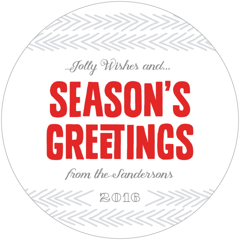 round holiday coasters - deep red - jolly wishes (set of 12)