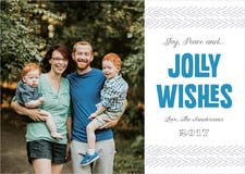 holiday cards - blue - jolly wishes (set of 10)