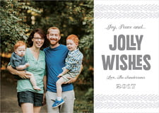 holiday cards - dark gray - jolly wishes (set of 10)