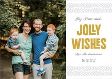 holiday cards - gold - jolly wishes (set of 10)