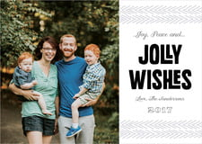 holiday cards - tuxedo - jolly wishes (set of 10)