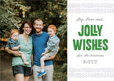 holiday cards - deep green - jolly wishes (set of 10)