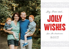 holiday cards - deep red - jolly wishes (set of 10)