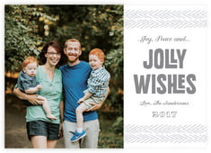 Jolly Wishes photo cards - horizontal