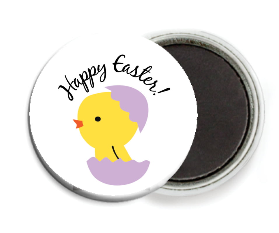 custom button magnets - lilac - chick (set of 6)