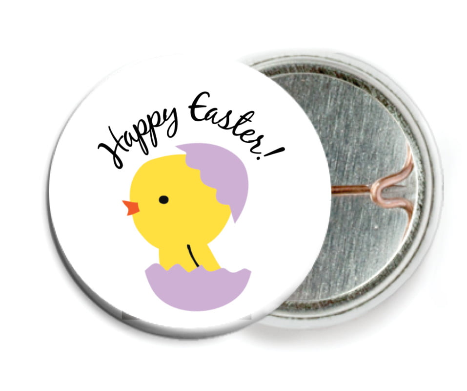 custom pin back buttons - lilac - chick (set of 6)