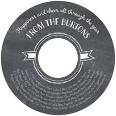 Chalkboard Holiday cd labels
