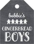 Chalkboard Holiday small luggage tags