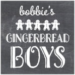 Chalkboard Holiday square labels